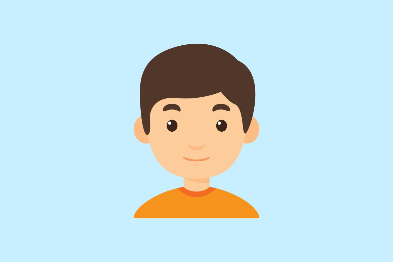 pictogram van een jongen