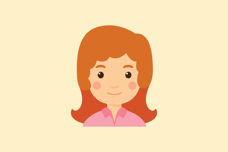 pictogram van een meisje
