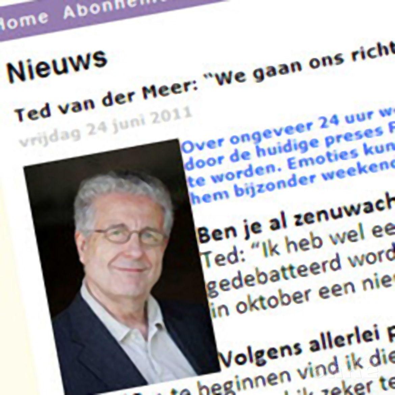Ted van der Meer: 'We gaan ons richten op de core business van de bond'