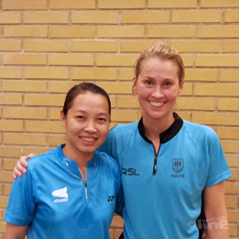 Huynh speelde tegen badmintonicoon en dertienvoudig Deens kampioene Camilla Martin