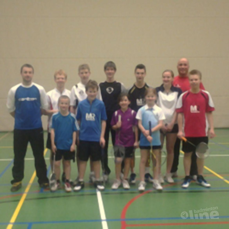 Roel van Heuckelom bij de Badmintonschool Noord-Limburg