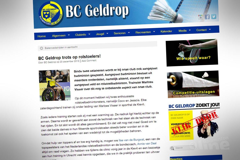 BC Geldrop trots op rolstoelers!