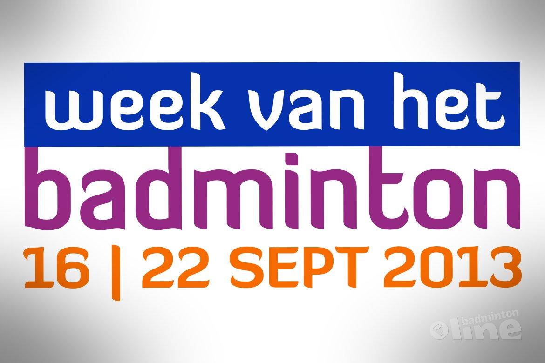 140 verenigingen doen mee aan de Week van het Badminton 2013