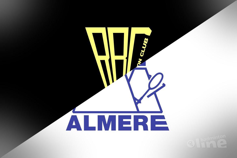 Met welke shuttles spelen de eredivisieteams van Almere en Roosterse?