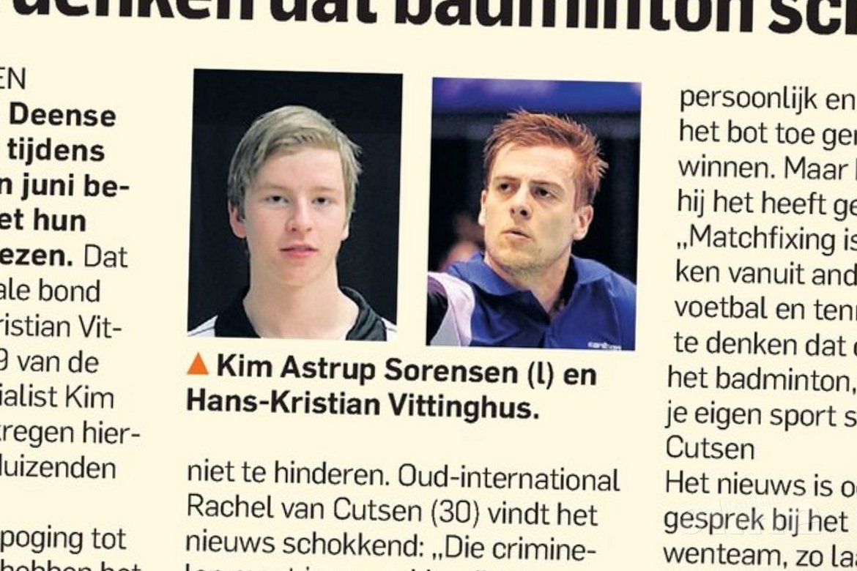 Rachel van Cutsen: 'Naïef te denken dat badminton schoon is'