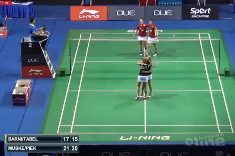 Eefje Muskens en Selena Piek naar kwartfinale Singapore Open