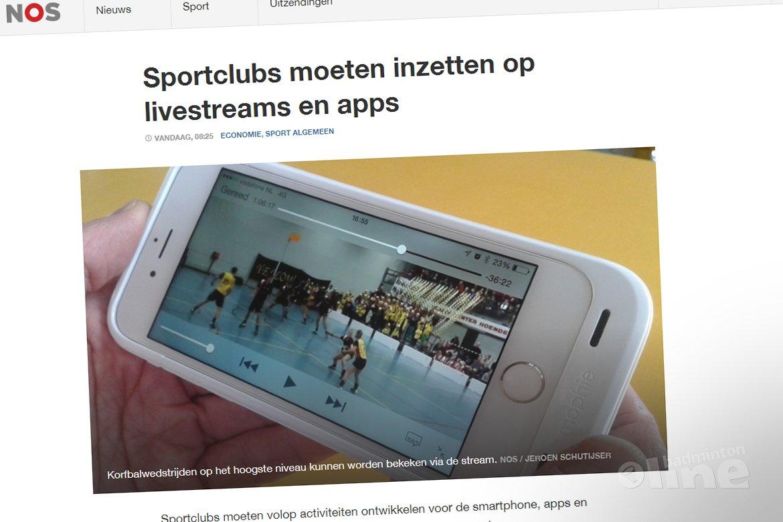 Sportclubs moeten inzetten op livestreams en apps