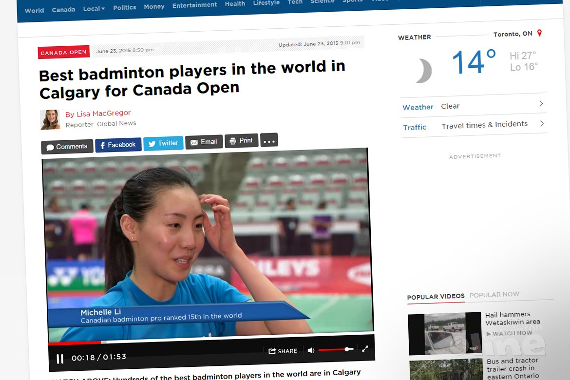 Best badminton players in the world in Calgary for Canada Open