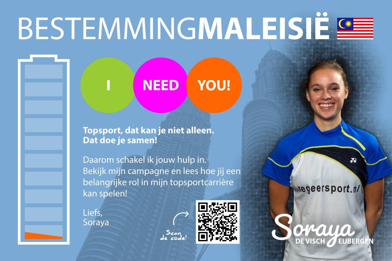 Topbadmintonner Soraya de Visch Eijbergen zet in op crowdfunding
