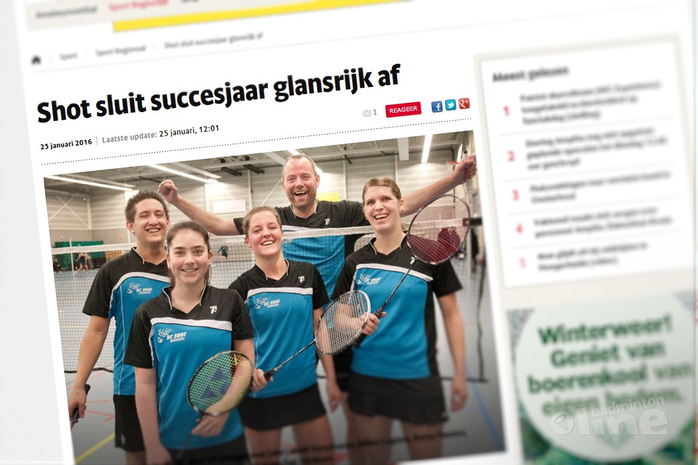 Dongense badmintonclub Shot sluit succesjaar glansrijk af