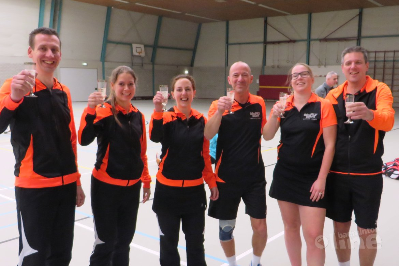 Limburgs team wordt kampioen in regionale competitie Badminton Nederland Competitie