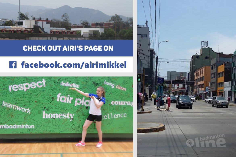 Finland's Airi Mikkela: Hello from Peru!