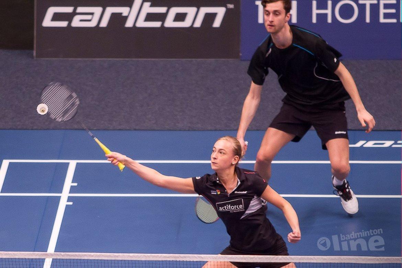 Jacco Arends en dubbelpartner Piek bij laatste acht EK Badminton
