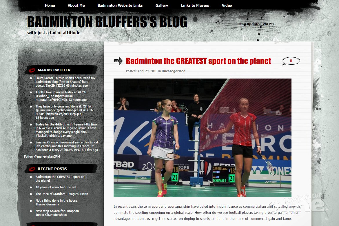Badminton Europe reporter Mark Phelan: badminton is the greatest sport on the planet