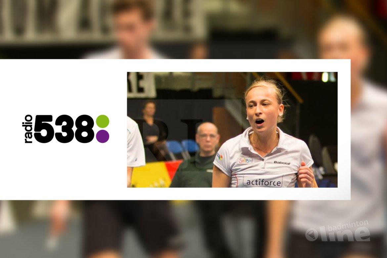 Selena Piek in de Radio 538 uitzending bij Evers Staat Op