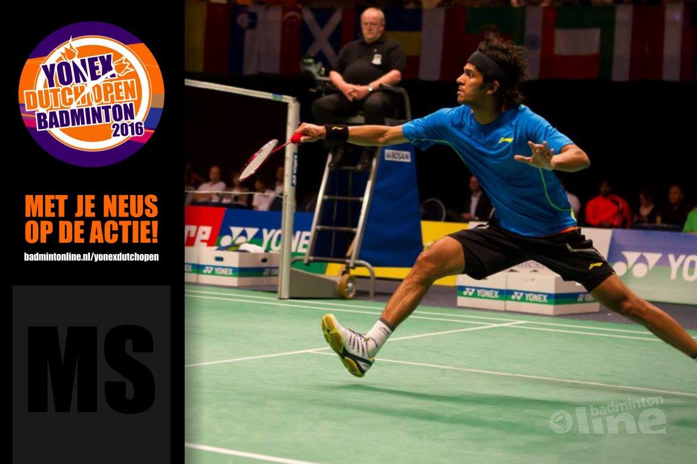 Dutch Open 2016: Ajay Jayaram gaat voor derde titel op rij