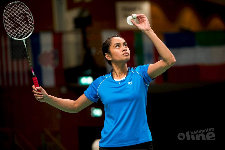 Kwartfinale Hungarian International eindstation voor Gayle Mahulette