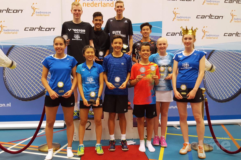 Madouc Linders kroont zichzelf tot koningin van Tilburg Badminton Tilburg
