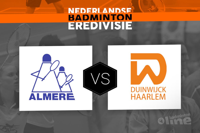 Zaterdag 10 maart finale Landskampioenschap Nederlandse Badminton Eredivisie: Almere tegen Duinwijck