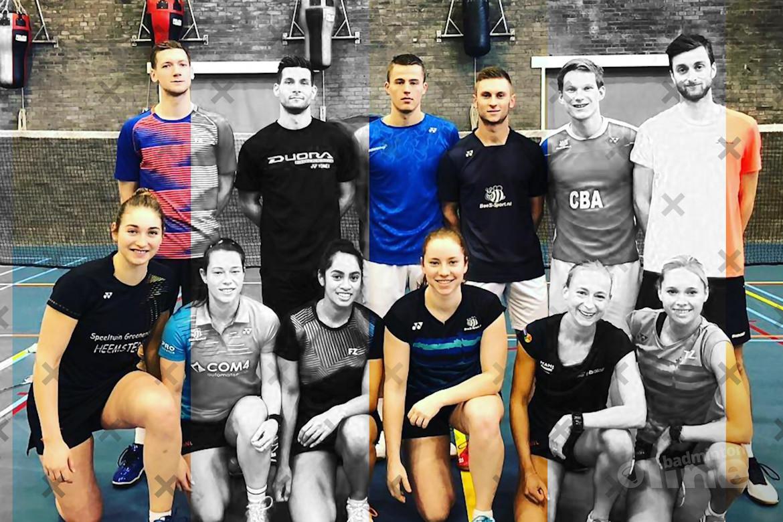 Welke badmintonners zitten er in de nationale selectie van Badminton Nederland?