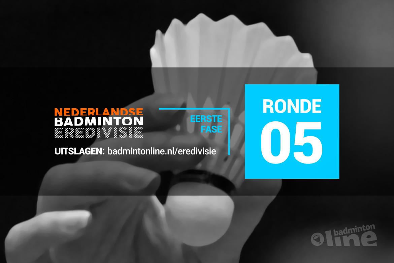 Wedstrijdschema vijfde speelronde Nederlandse Badminton Eredivisie 2018-2019