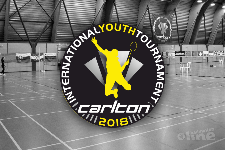 Topbadminton tijdens 42e Carlton International Youth Tournament in Hoensbroek