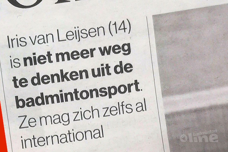 Badmintontiener Iris van Leijsen: Onderweg naar de Spelen